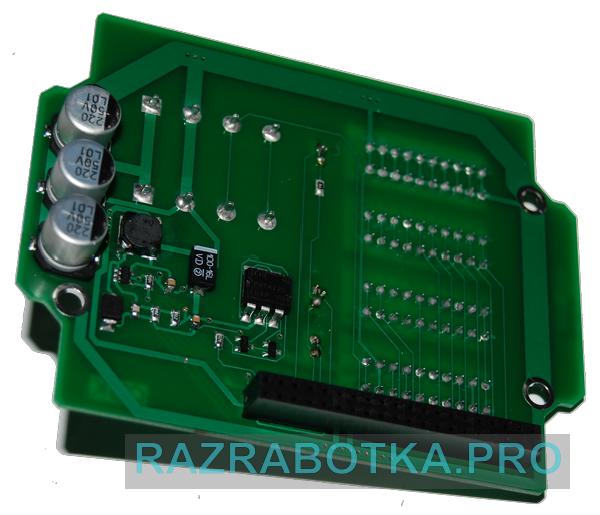Разработка электронных устройств на заказ, Внешний вид модуля шлейфов и датчиков (контроллера шлейфов и датчиков) охранной сигнализации, фото 4