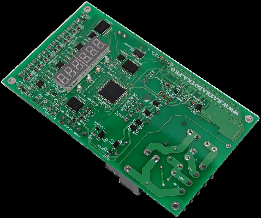 Разработка электронного оборудования, Терморегулятор с управлением по MODBUS, Печатная плата снизу