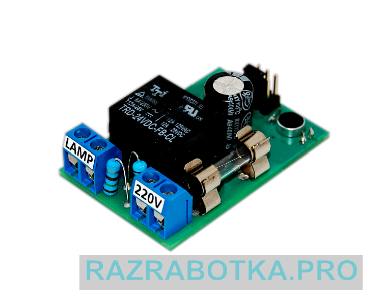 Разработка электроники на заказ, Смонтированная печатная плата выключателя «CLAPS»