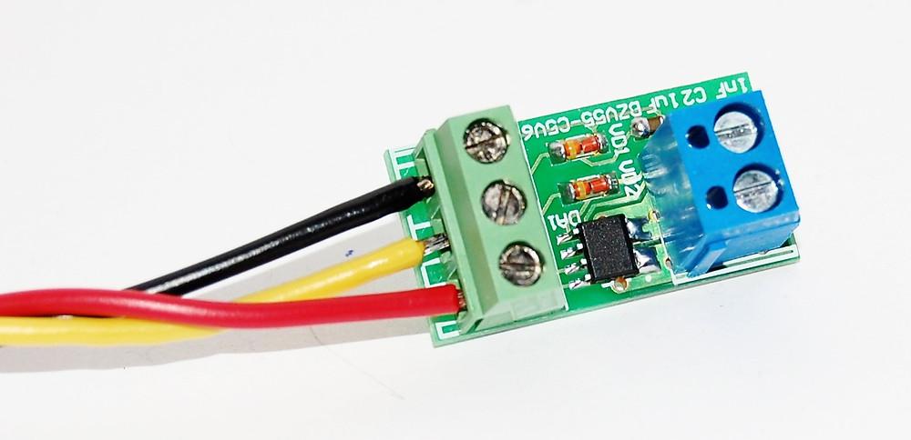 Разработка электроных устройств для измерения тока, Датчик многоканального амперметра для измерения тока до 20А