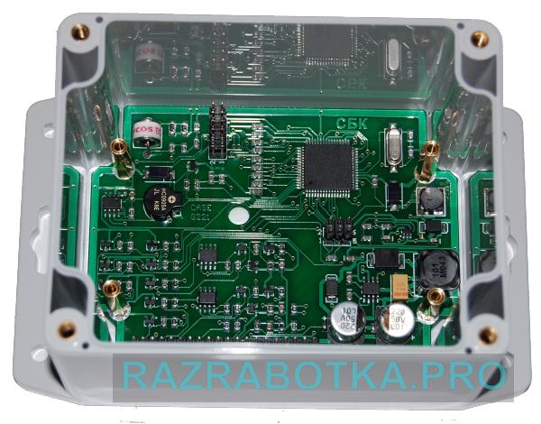 Разработка электронного оборудования, Внешний вид модуля шлейфов и датчиков (контроллера шлейфов и датчиков) охранной сигнализации, фото 2