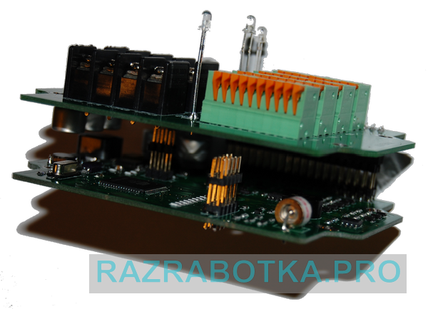 Разработка электроники на заказ, Внешний вид модуля шлейфов и датчиков (контроллера шлейфов и датчиков) охранной сигнализации, фото 1