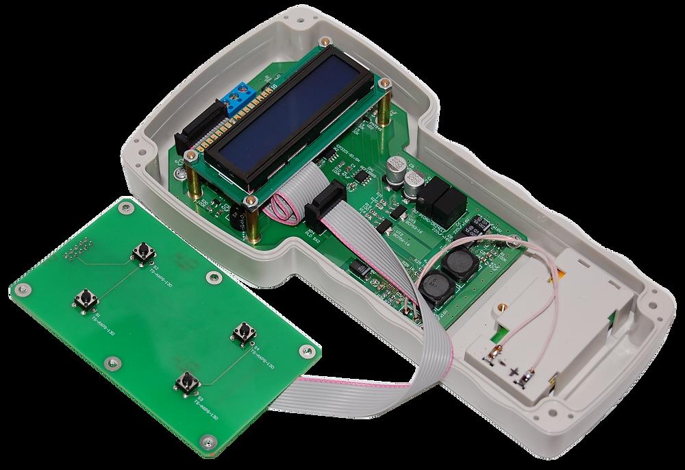 Разработка электроники, Прибор Meat Tester с открытым корпусом и подключенной клавиатурой