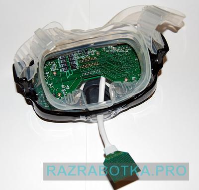Разработка электроники - разработка электронных техники для инвалидов по зрению, внешний вид электронной платы в корпусе прибора