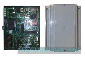 Разработка электронных схем и печатных плат, Передатчик сообщений от охранных систем по протоколу Ademco Contact ID, Внешний вид передатчика