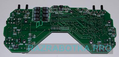 Разработка электронных устройств на заказ для инвалидов по зрению, внешний вид основной электронной платы устройства, фото 3 - нижняя сторона печатной платы