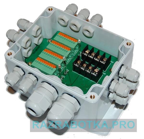 Разработка электроники по техническому заданию, Внешний вид модуля шлейфов и датчиков (контроллера шлейфов и датчиков) охранной сигнализации, фото 5