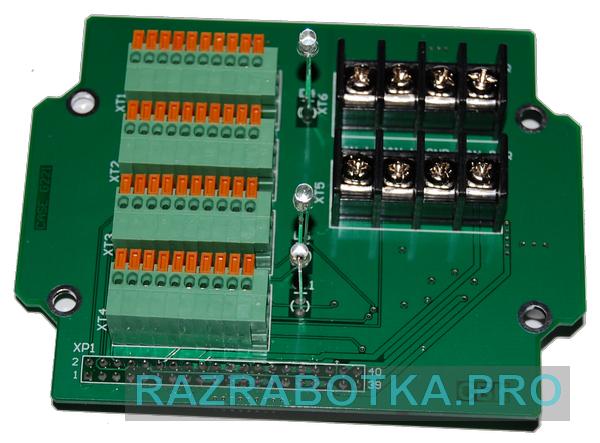 Разработка электронных приборов на заказ, Внешний вид модуля шлейфов и датчиков (контроллера шлейфов и датчиков) охранной сигнализации, фото 3