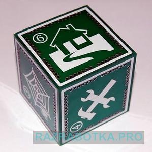 Детская обучающая и развивающая игрушка «Говорящий кубик» с акселерометром для определения положения
