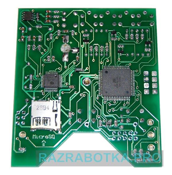 Разработка устройств электроники, Внешний вид электронной платы прибора DreamStalker PRO, нижняя сторона