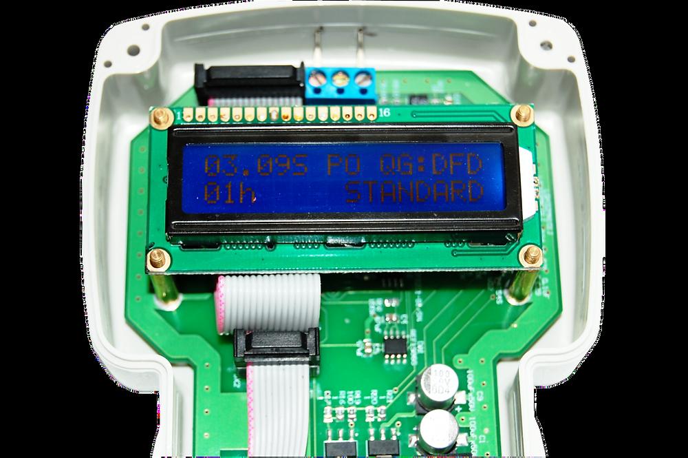 Разработка электроники и электронных приборов, Отображение информации на дисплее измерителя электропроводности мяса