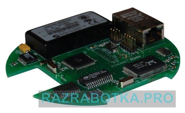 Разработка электроники, Внешний вид Web-сервера на микроконтроллере Atmel ATmega128