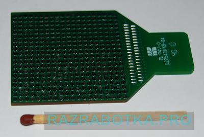 Разработка электроники - разработка электронных устройств для инвалидов по зрению, внешний вид электронной матрицы для передачи изображения на язык (со стороны транзисторов)
