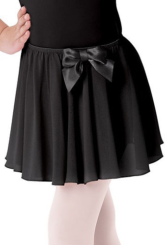 Pull On Bow Accent Skirt