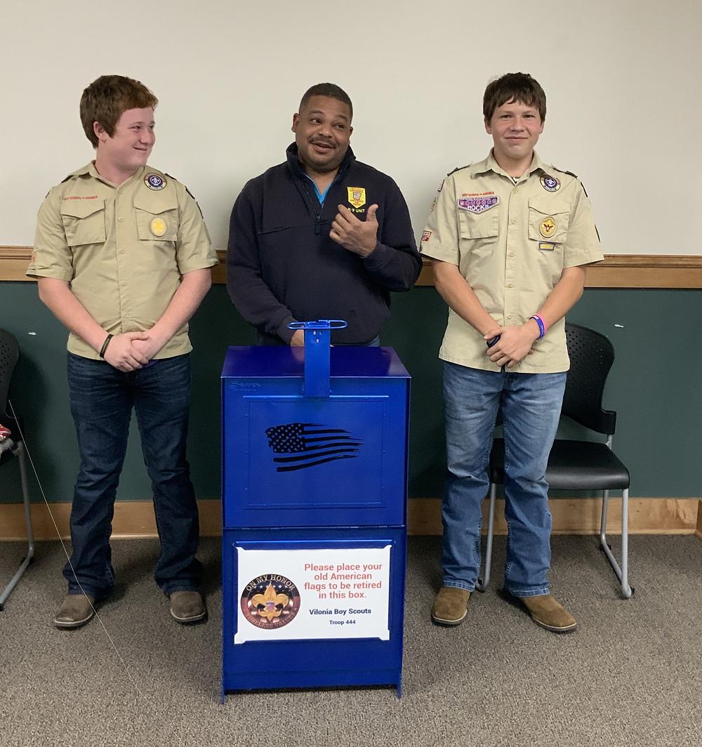 Boy Scout Troop 444 Flag Disposal Box