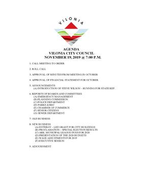 November City Council Meeting