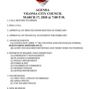 March City Council Meeting