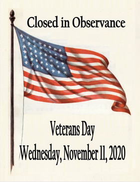 Closed Veterans Day 2020