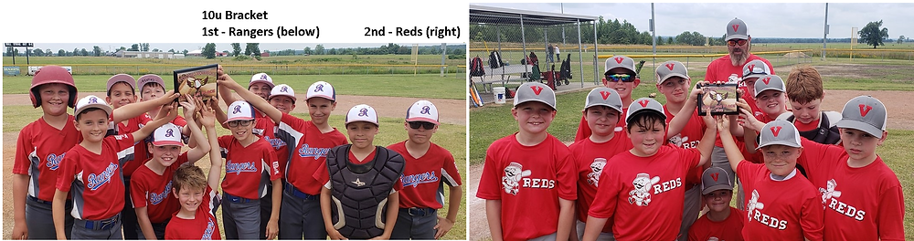10u: Rangers (left) and Reds (right)
