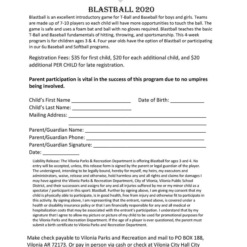 Blastball Registration Form