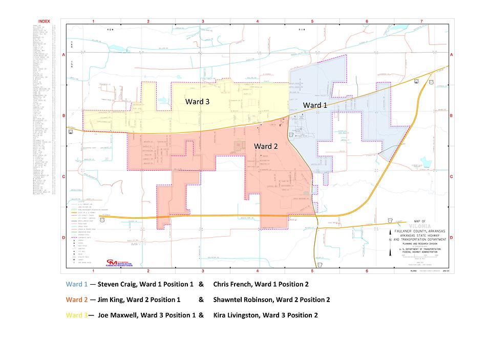 Vilonia Ward Map.png