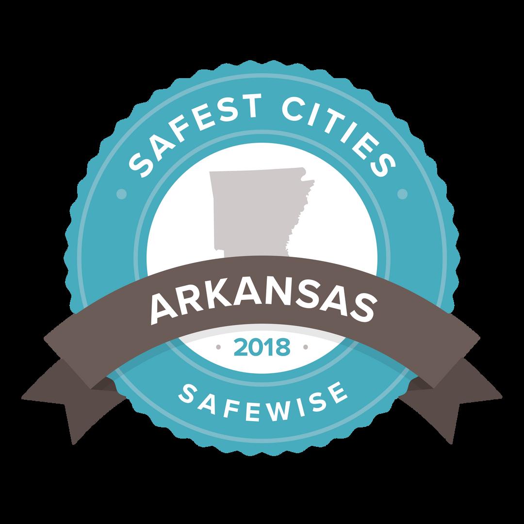 2018 Safest Cities Badge