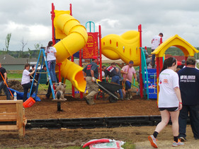 VOLUNTEERS TO BUILD NEW PLAYGROUND APRIL 18