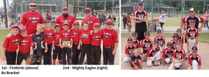 8u: Firebirds (left) and Mighty Eagles (right)
