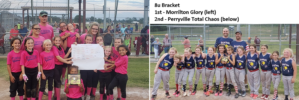 8u: Morrilton Glory (left) and Perryville Total Chaos (right)