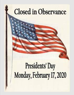 Closed in Observance: Presidents' Day