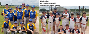 12u: Cool Breeze (left) and Vilonia Braves (right)