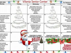 Vilonia Senior Center Menu, December 2020
