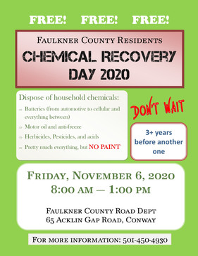 Faulkner County Chemical Recovery Day 2020