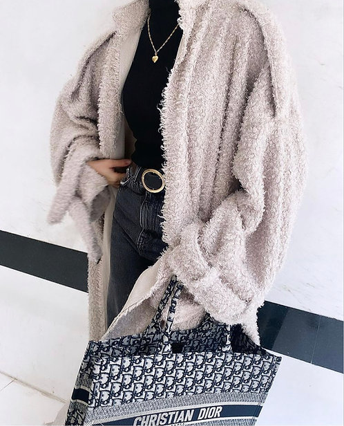 Poly Knit Trench Coat