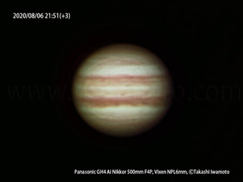 ゴーヨン(500mmf4望遠レンズ)での惑星撮影、木星と土星のランデブー