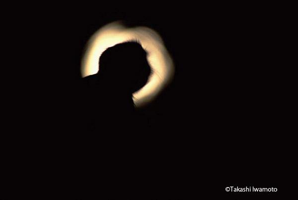 月夜のサル
