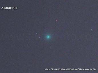 8月1日のネオワイズ彗星、D800E vs D850写り対決