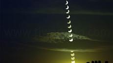 部分日食 、2020年6月21日に見られた部分日食一部始終