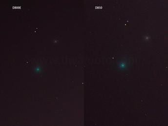 D800EとD850のシャドーノイズ対決!8月6日のネオワイズ彗星をサンニッパで撮影、検証した