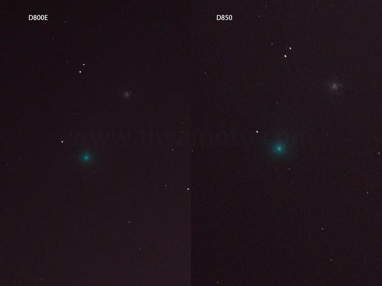 8月6日のネオワイズ彗星、サンニッパでD800EとD850のガチ対決!シャドーのノイズ検証