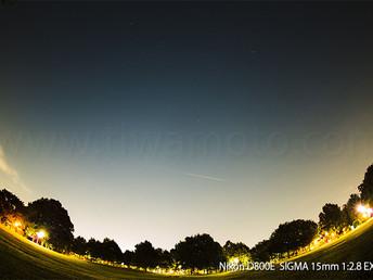 都会で見るペルセウス流星群