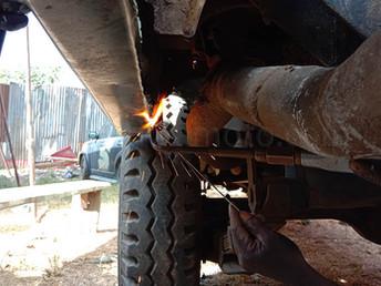 ランクル17年目の大修理!その2、溶接の巻き