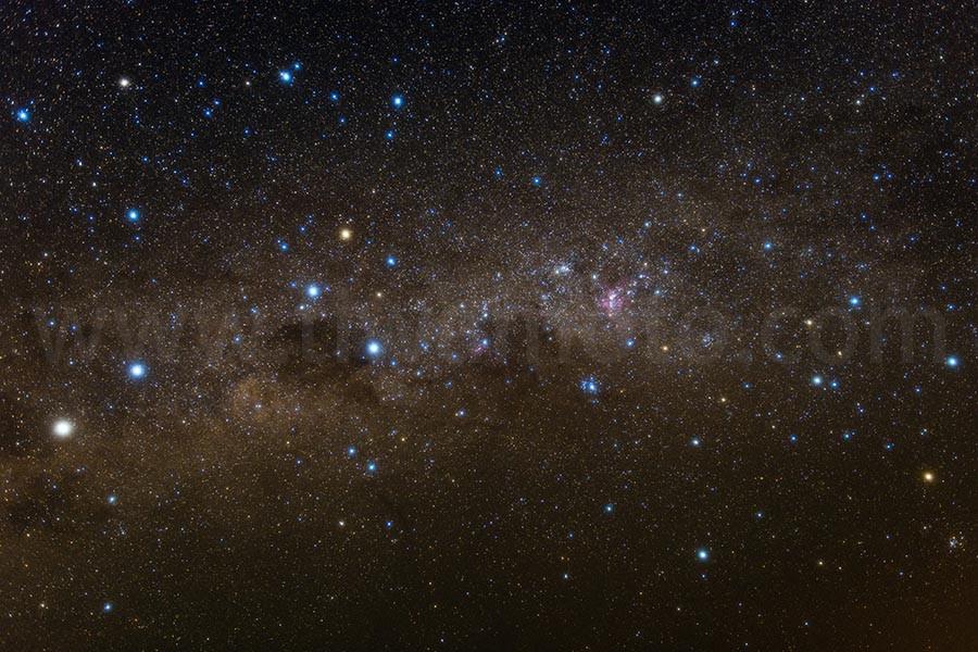 南天の星空、南十字星周辺、Pro Softon-A(W)フィルター使用