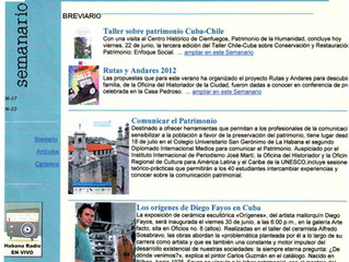 """Prensa digital (Revista """"Opus Habana"""")"""