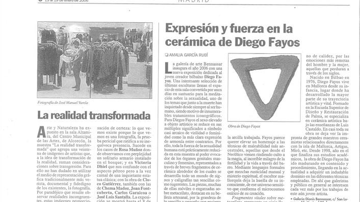"""Prensa escrita (Revista """"El Punto de las Artes"""")"""