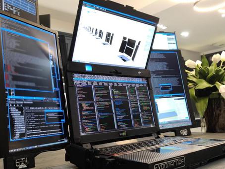 Aurora 7, el primer portátil del mundo con 7 pantallas, que tienen su propia batería