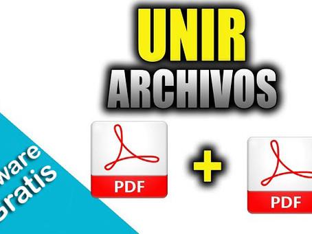 Cómo unir varios documentos PDF en un sólo archivo