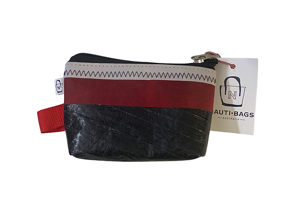 Carbon & Red- Coin Purse