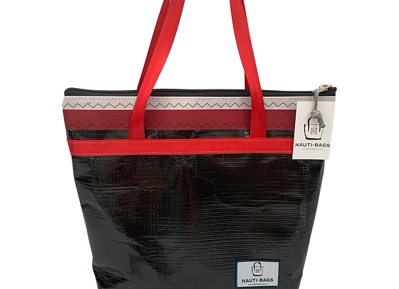 Carbon with Red- Large Tote