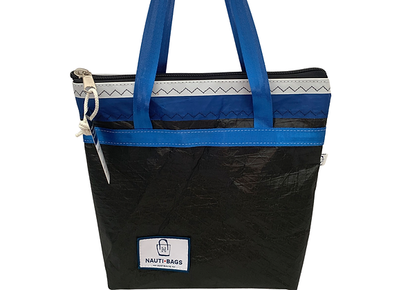Carbon with Blue - Small Tote
